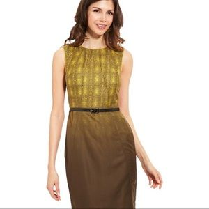 Vince Camuto | Olive Ombre Sheath Dress NWT